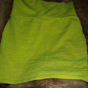 BRIGHT yellow Skirt and shirt